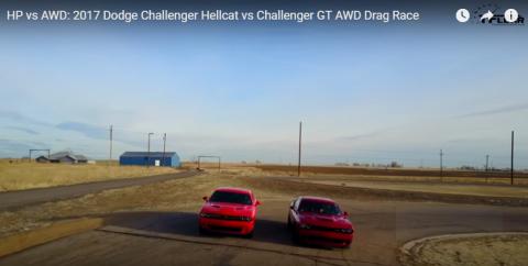 Drag Race: Dodge Challenger GT AWD vs. Challenger Hellcat