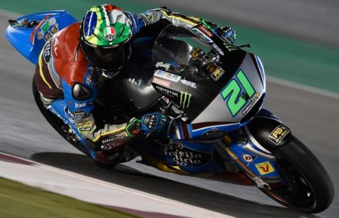 Libres (II) Moto2 Qatar 2017: Morbidelli y Márquez asombran