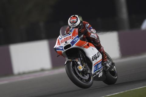 Primera gran decepción de Jorge Lorenzo con Ducati en Qatar