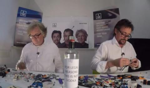 Vídeo: Hammond y May construyen LEGO mientras beben vodka