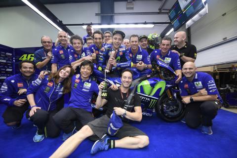 Valentino Rossi cumple 350 grandes premios en Argentina
