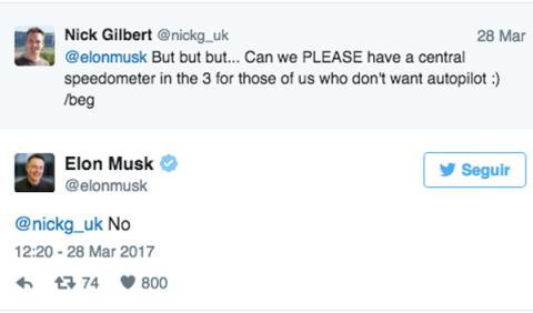 El zasca de Elon Musk a un cliente de Tesla