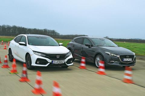 Honda Civic 2017 vs Mazda3