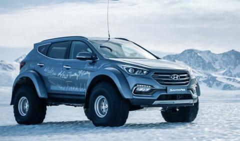 Conquistando la Antártida a bordo de un Hyundai Santa Fe