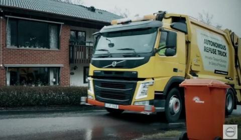 Volvo Trucks presenta su camión de basura autónomo