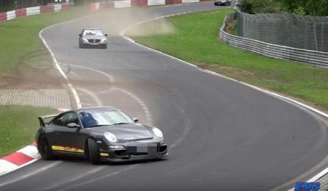 Vídeo: Este Porsche 911 GT3 se salva… por poco