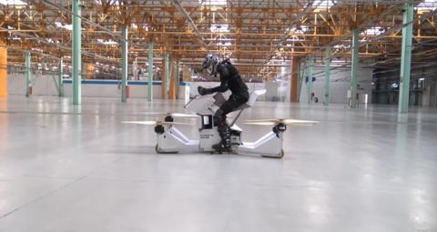 Scorpion-3: la moto voladora que pronto será una realidad