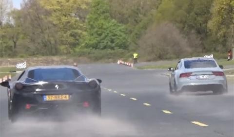 Vídeo: La historia del Audi RS7 que humilló a un Ferrari