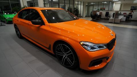 BMW 750i Fire Orange Individual