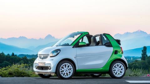 smart fortwo electric drive cabrio lateral