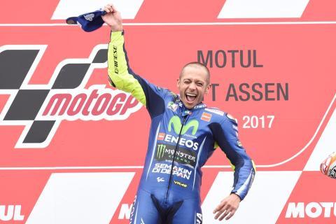 Las 5 victorias que consiguió Valentino Rossi en Assen