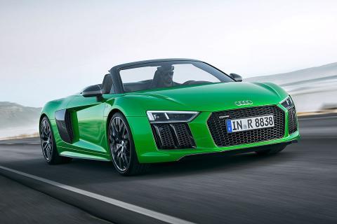 Audi R8 Spyder V10 plus. Finales del verano. V10, 5,2 litros, 610 CV.