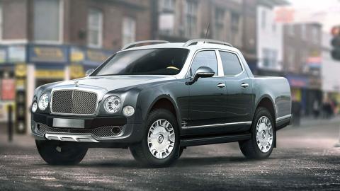 Renders de coches de lujo convertidos en pick-ups: Bentley Mulsanne