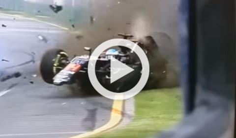 Los 5 accidentes más espectaculares de la F1 en 2016