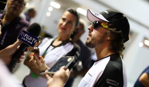 Alonso espera un GP Singapur sin contratiempos