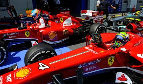 Alonso - Massa - Ferrari - Alemania 2013