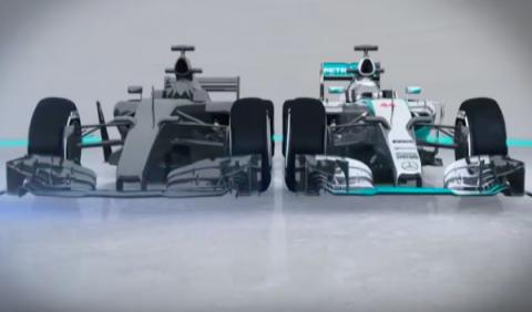 Así podrían ser los monoplazas de la F1 de 2017