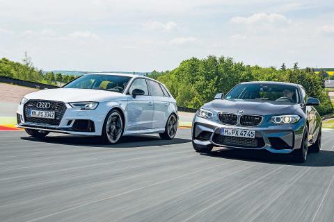 Audi RS 3 vs BMW M2