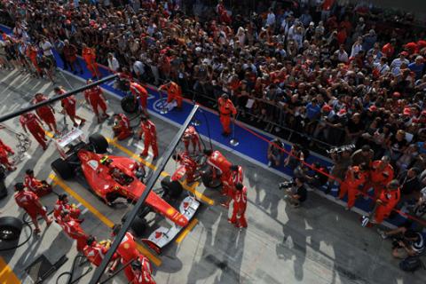 Box Ferrari - Monza - GP Italia