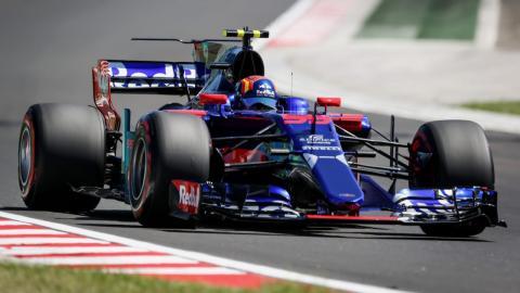 Carlos Sainz durante la clasificación del GP Hungría
