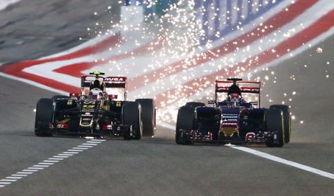 Las chispas de los F1 animan el GP de Bahréin 2015