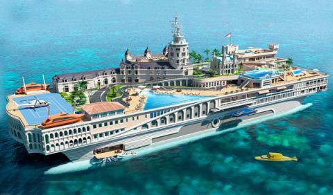 El circuito de Mónaco, en un yate de 300 millones de euros