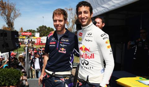 Daniel Ricciardo, el compañero que Vettel no esperaba