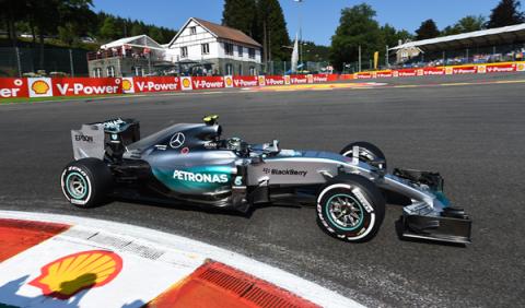 F1. GP Bélgica 2015, Libres 1: Rosberg al mando