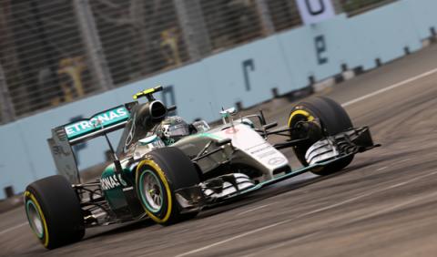 F1. Libres 1 GP Singapur: Rosberg lidera, McLaren avanza
