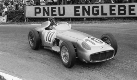 Fangio Mercedes Spa 1955