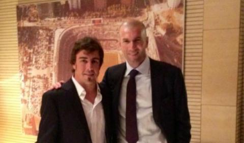 Fernando Alonso se declara admirador de Zidane