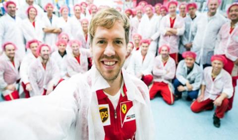 Ferrari recibe en Maranello a Vettel y Vergne