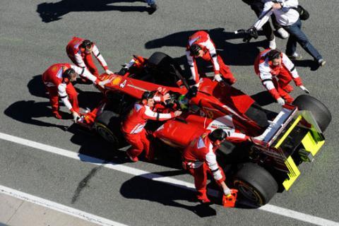 Ferrari tests F1 2013
