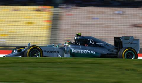 Fórmula 1: Libres 1 GP Alemania 2014. Mercedes lidera