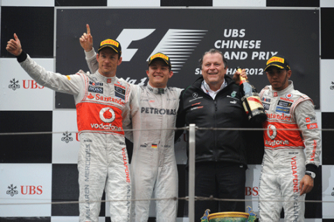 Fórmula 1: Las mejores imágenes del GP de China 2012