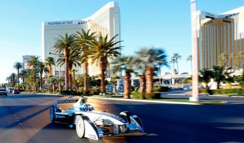 La Fórmula E se exhibe en Las Vegas