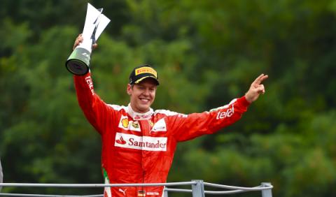 GP Italia: Vettel defiende el honor de Ferrari en el podio