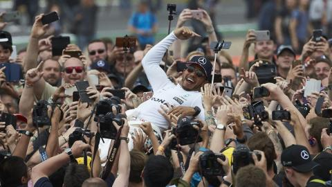 Hamilton en Silverstone 2017