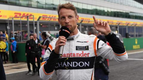 Jenson Button, en el GP de Gran Bretaña
