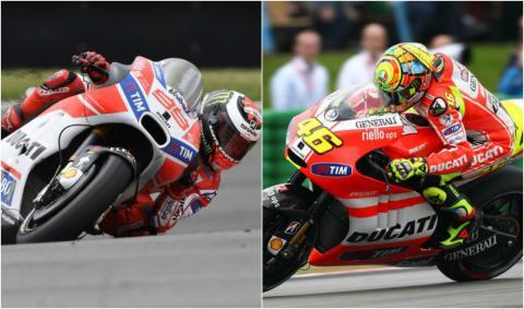 Jorge Lorenzo y Valentino Rossi, primer año Ducati
