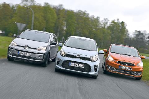 Kia Picanto vs Mitsubishi Space Star y VW Up