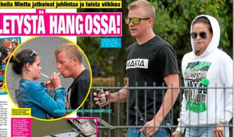 Kimi Räikkönen, pillado fumando con su novia