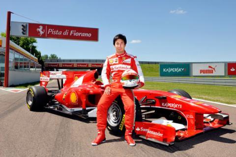Kobayashi prueba el Ferrari F10 en Fiorano