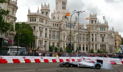 Madrid, convertida en circuito urbano de F1 por un día