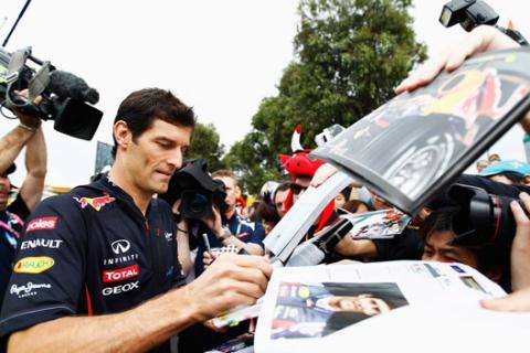Mark Webber Red Bull Australia