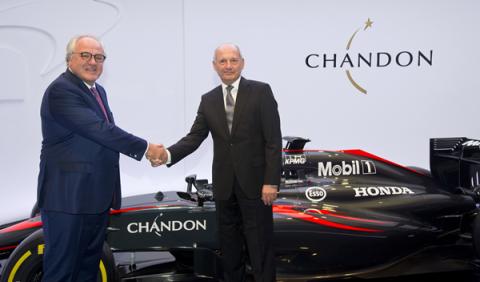 McLaren anuncia a Chandon como nuevo patrocinador