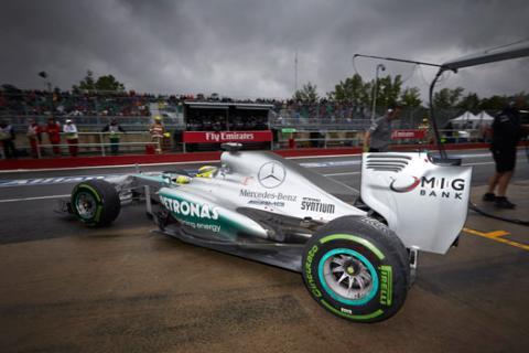 Mercedes Pirelli Canada 2013