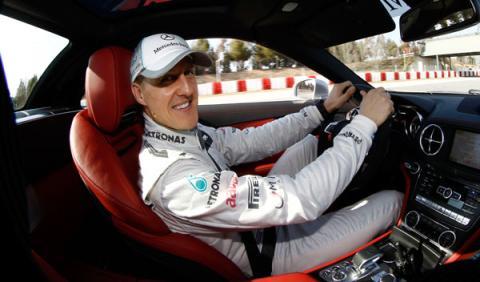 Michael Schumacher tuvo un accidente de tráfico en Sevilla
