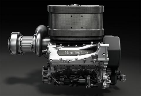 Motor Mercedes V6 Turbo F1 2014