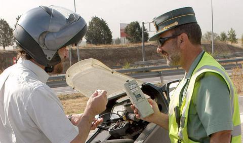 Motorista, test de alcoholemia